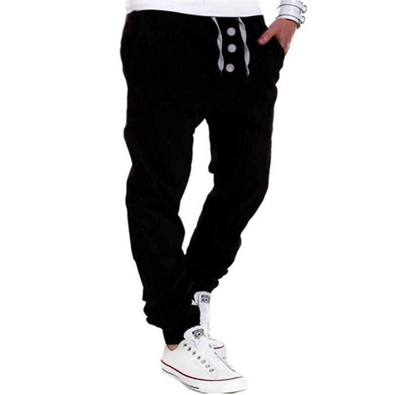 Nueva Venta Caliente de Los Hombres de Moda Para Hombre de La Personalidad Pantalones  Harem Flojo Ocasional de Algodón Pantolon Hip Hop Pantalones en de en ... 0e6d3bbb3303