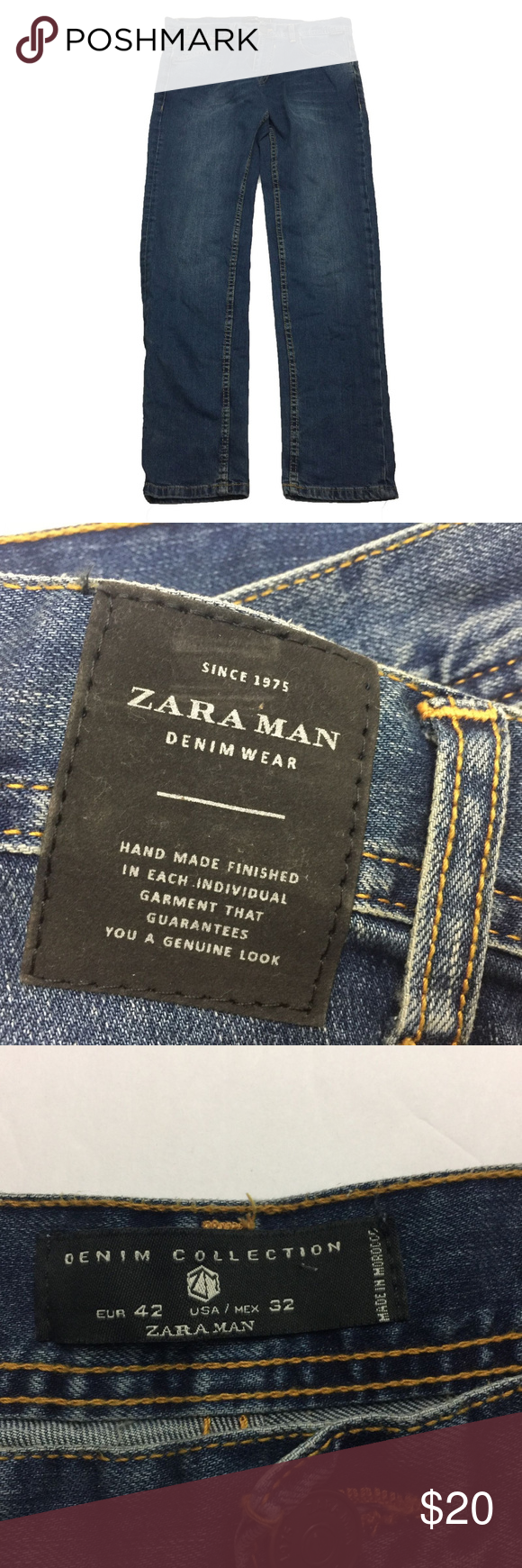 e8010178 Zara Man Denim Collection Skinny Jeans Size 32 Zara Man Denim Collection Men's  Skinny Denim Jeans