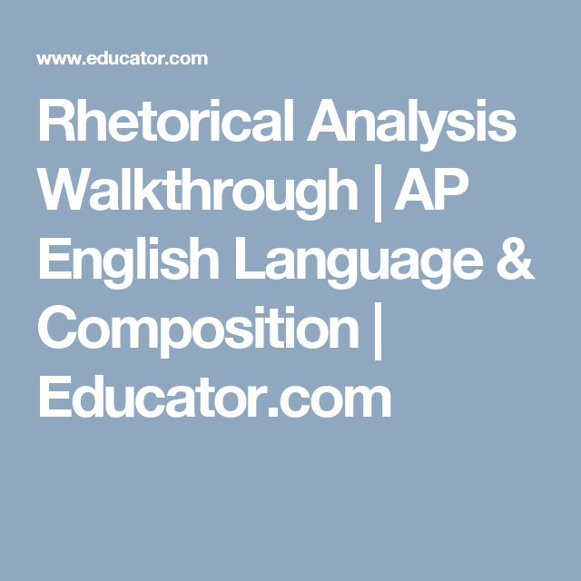 ap english rhetorical analysis essay