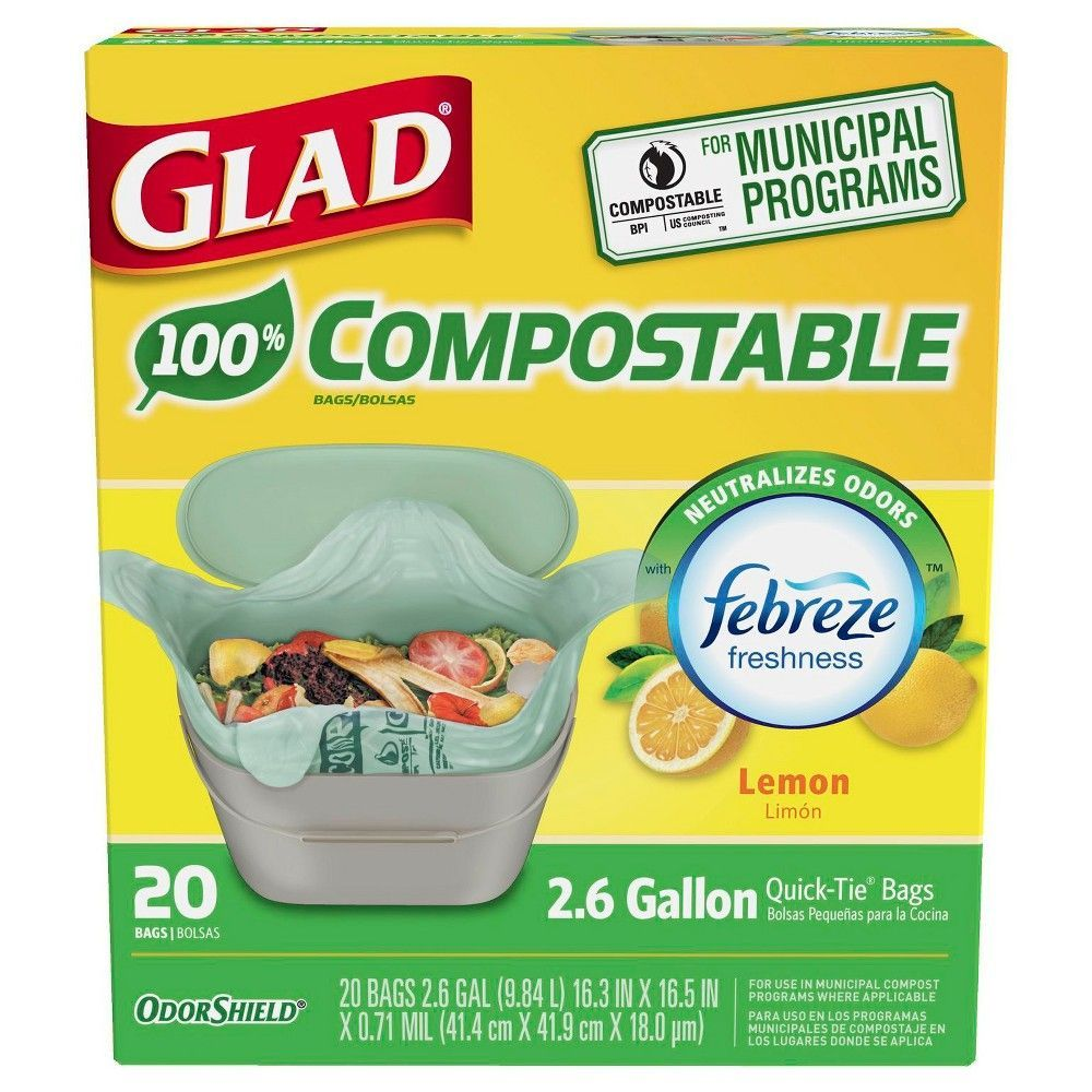 Glad Kitchen Compost Trash Bags
