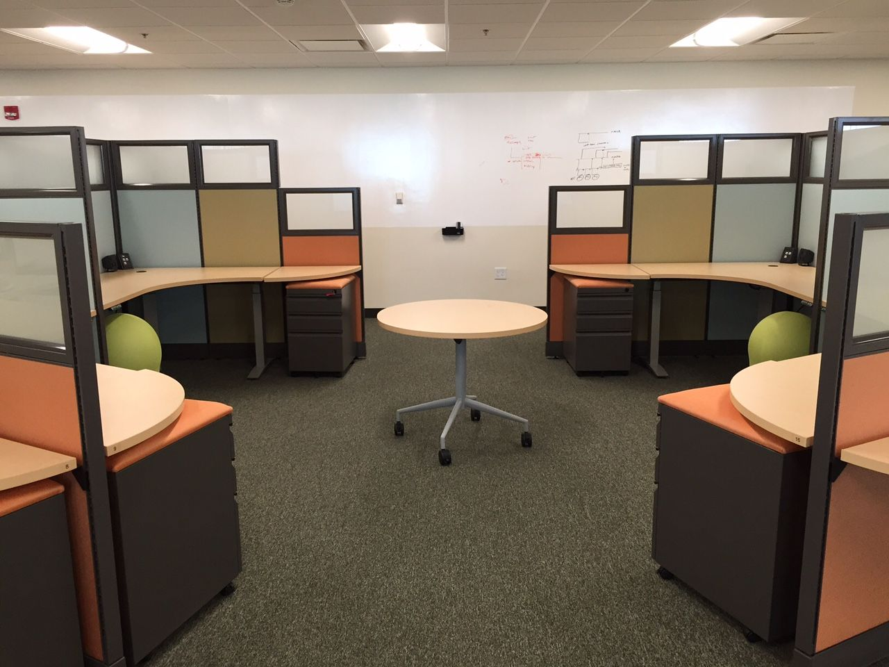 Uncategorized Cubicle Offices a modified dogbone style cubicle with glass httpjoycecontract com