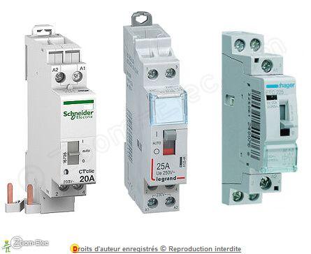 Branchement Contacteur Legrand Hager Schneider Electric