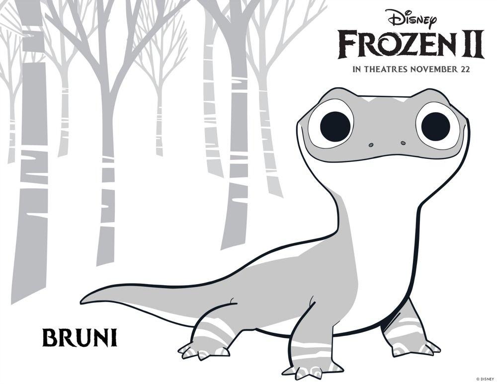 Free Printable Disney Frozen Bruni Coloring Page Freeprintable Disney Frozen Frozenii Frozen2 Frozen Coloring Pages Disney Coloring Pages Frozen Coloring