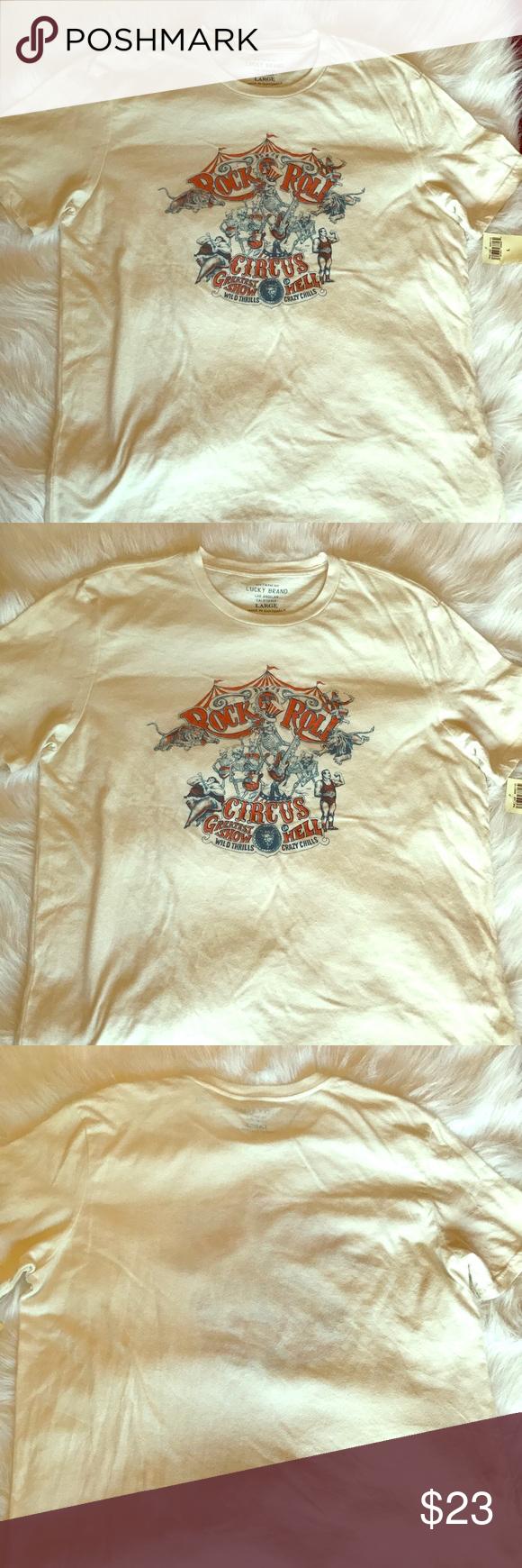87dca011 Lucky 🍀 brand Rock n Roll Circus Men's T-shirt White Lucky 🍀Brand T-shirt  Lucky Brand Shirts Tees - Short Sleeve