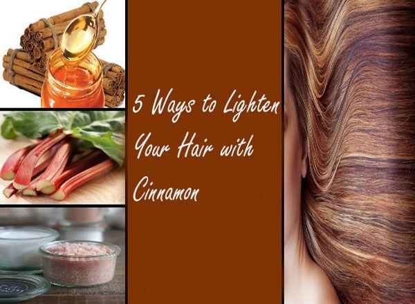 5 Ways to Lighten Your Hair with Cinnamon
