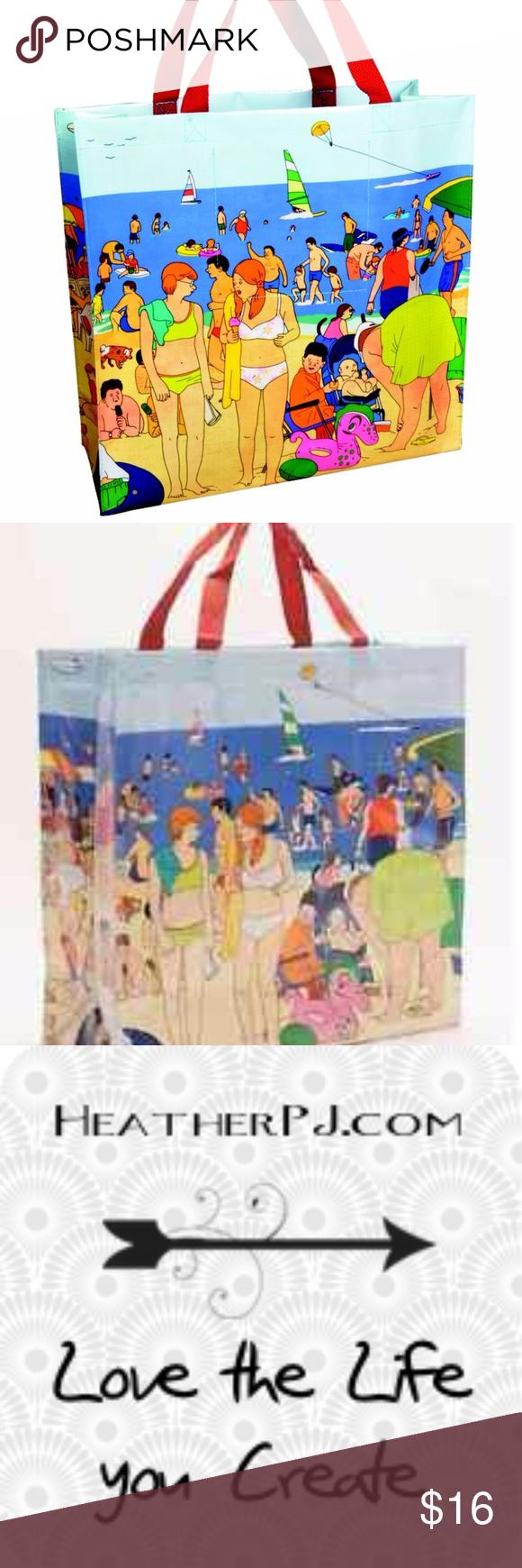 Beach TouristTote Bag Boutique Blue q, Bag making, Beach