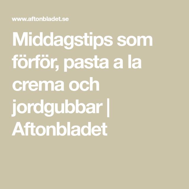 Aftonbladet Middagstips
