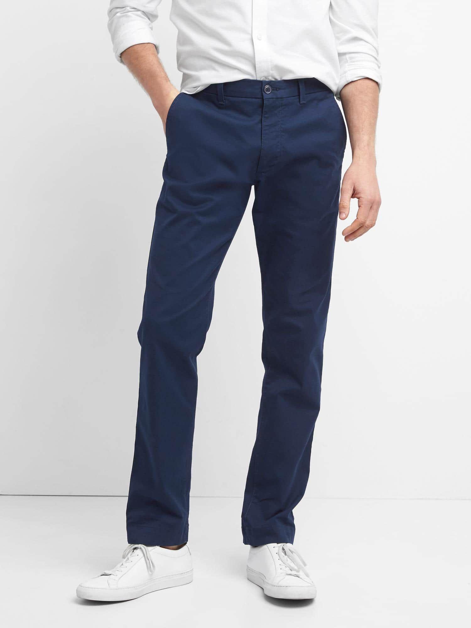 Pict j ferrar modern fit 1 - Classic Stretch Slim Fit Khakis Gap