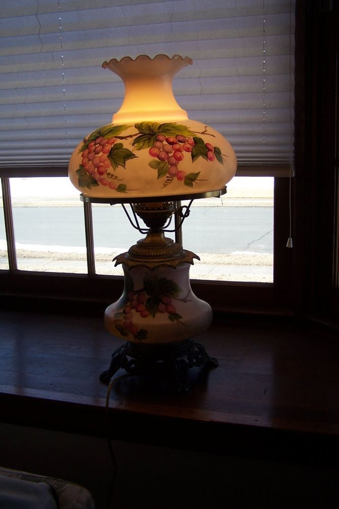 Vintage electric hurricane table lamp aloadofball Gallery