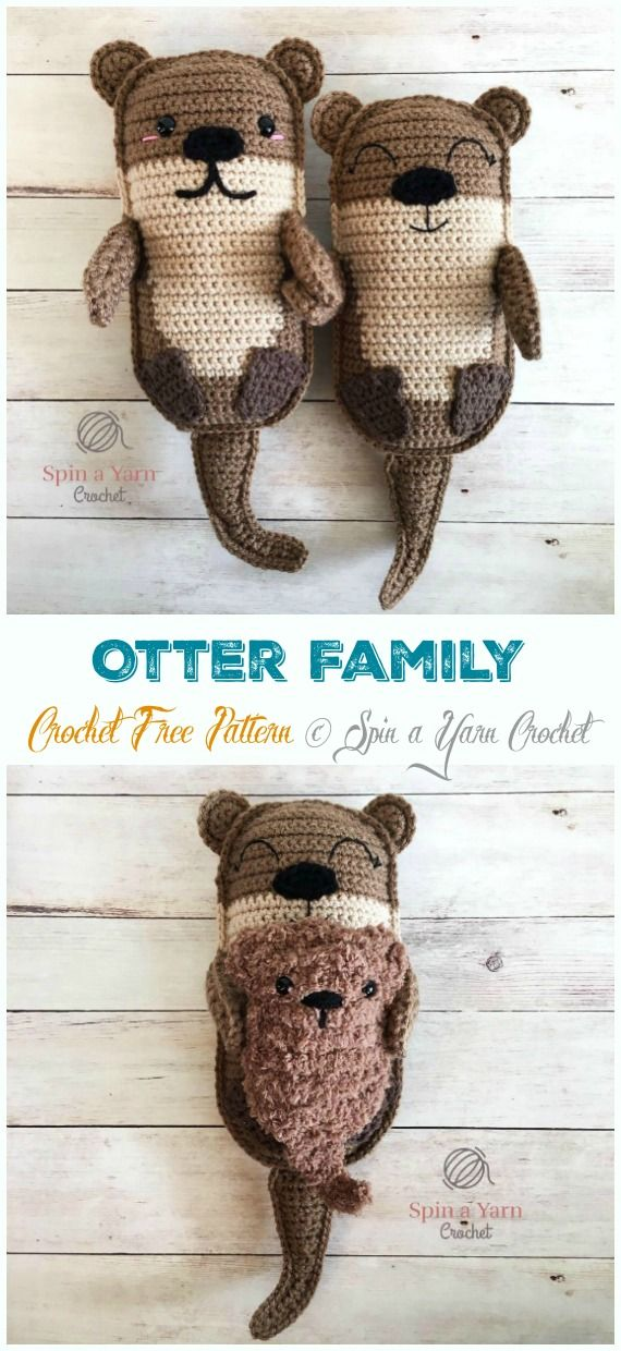 Amigurumi Sea Otter Crochet Free Patterns - Crochet & Knitting
