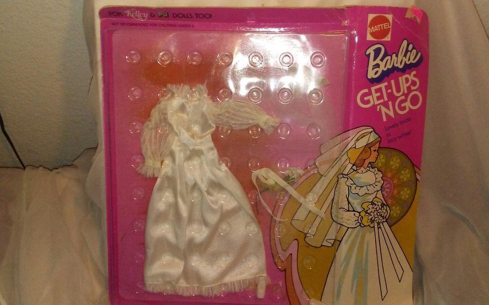 VINTAGE BARBIE GET-UPS N GO WEDDING DRESS IN ORIGINAL PACKAGE   eBay