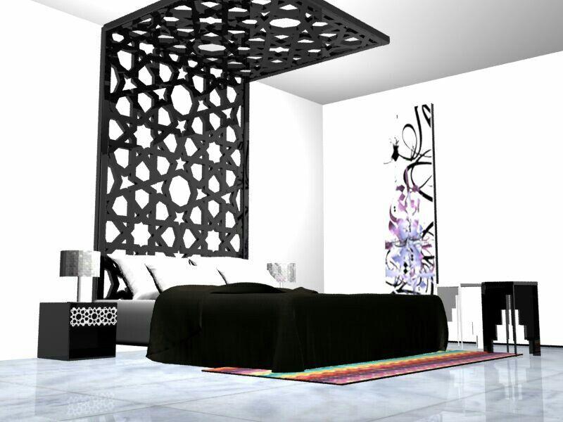 Islamic #modern #bedroom #fayyat #moroccan   My designs   Pinterest