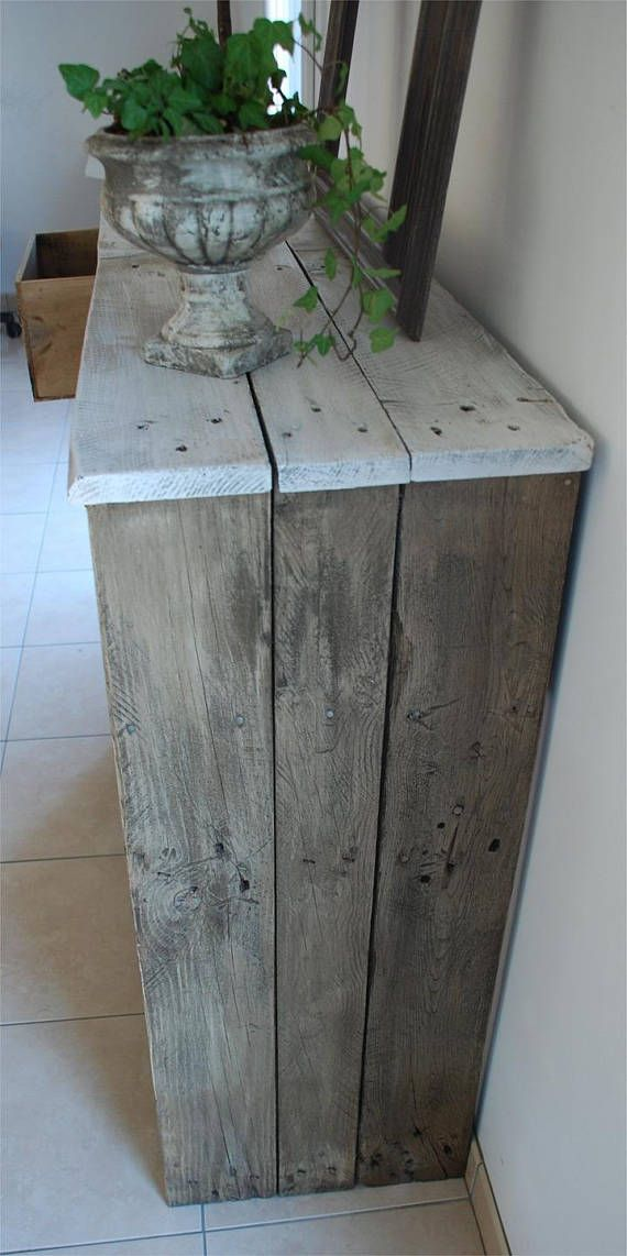 Wooden pallet shabby chic style sideboard