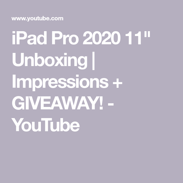 "iPad Pro 2020 11"" Unboxing and Impressions!"