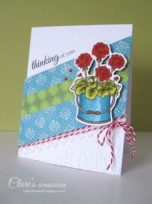 Clare's creations: CASE Study #155 - Potted Garden stamp set from The Craft's Meow