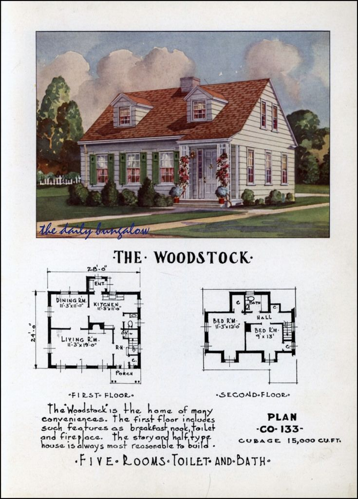 1952 Premier Small Homes Cape Cod House Plans Cape Cod House Cape Cod Cottage
