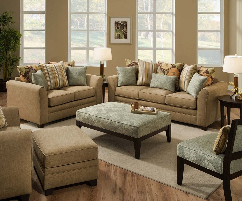 simmons living room furniture. TAN AVIGNON SOFA LOVE SEAT CHAIR OTTOMAN CHENILLE 4 SIMMONS PC BLUE NEW Simmons Living Room Furniture