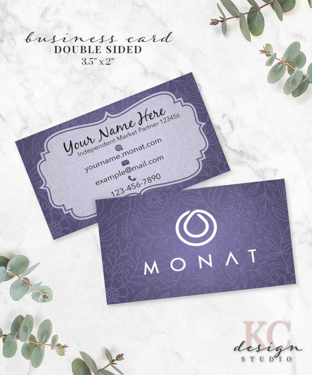 Monat Business Card • Purple Custom Business Branding