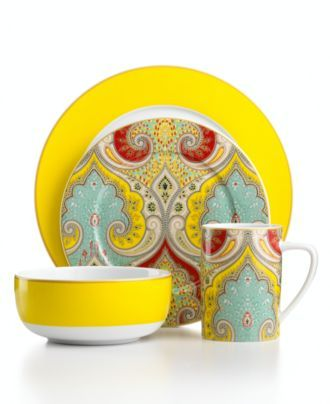 Echo Design Dinnerware, Latika 4 Piece Place Setting - Casual Dinnerware - Dining & Entertaining - Macy's