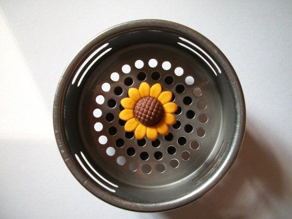 Sunflower Kitchen Sink Strainer Basket Sink Drain Plug