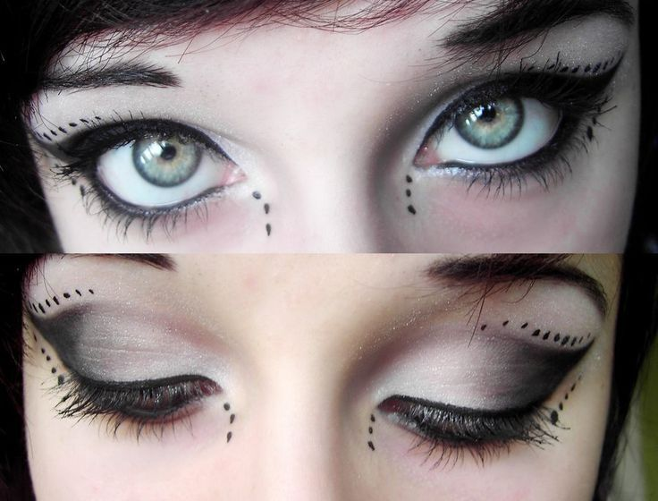 Gothic Eye Makeup Cyber Gothic Make Up By Mariemystery On