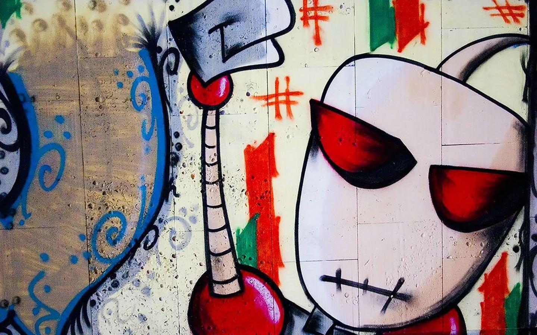 Giraffe Graffiti HD desktop wallpaper High Definition