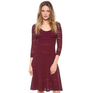 Catherine Malandrino - Dress - Burgundy - 50% DISCOUNT