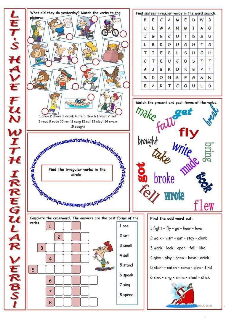 Have Fun With Irregular Verbs Worksheet Free Esl Printable Worksheets Made By Teachers Irregular Verbs Verb Worksheets Free Irregular Verbs [ 1079 x 763 Pixel ]