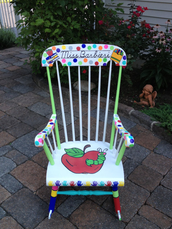 Teacher Rocking Chair Stack Chairs For Less Handpainted Custom Your My Customized Paint By Notjustsigns