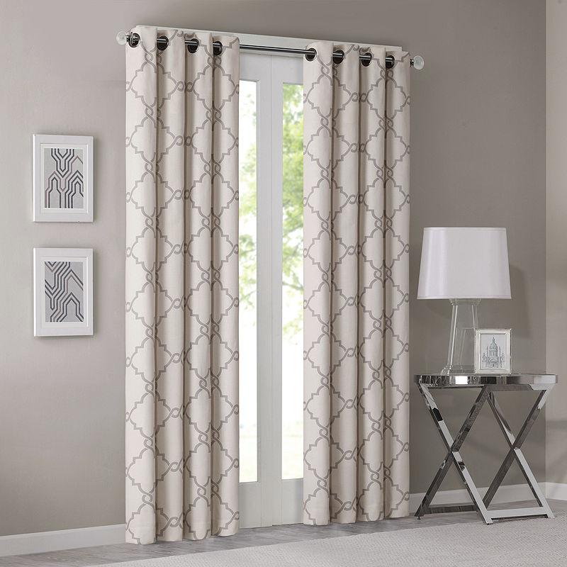 Madison Park Westmont Fretwork Print Grommet Top Curtain