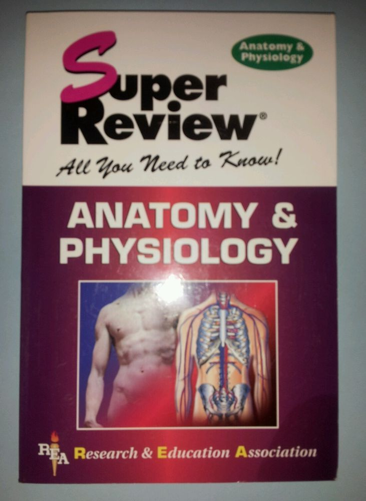2 Anatomy & Physiology Review Paperback Books - Like New Condition