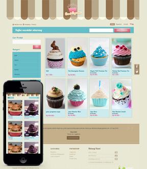 Cupcake Theme in Jejualan solutions platform