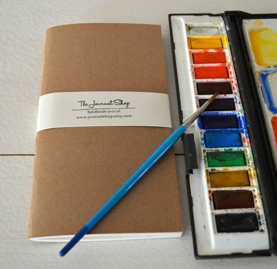 Watercolor Travelers Journal Notebook Refil Small Drawing Book