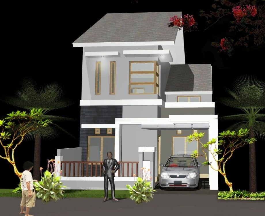 Desain Rumah Minimalis 2 Lantai Type 36 Tampak Depan Desain Rumah Desain Rumah Minimalis