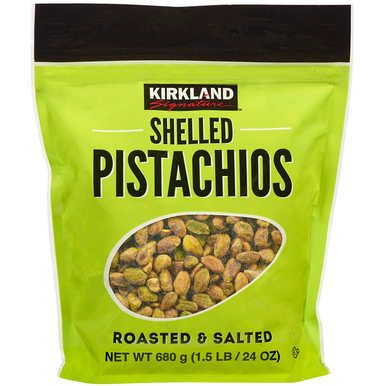 Kirkland Shelled Pistachios Roasted And Salted 1 5 Lbs Stuffed