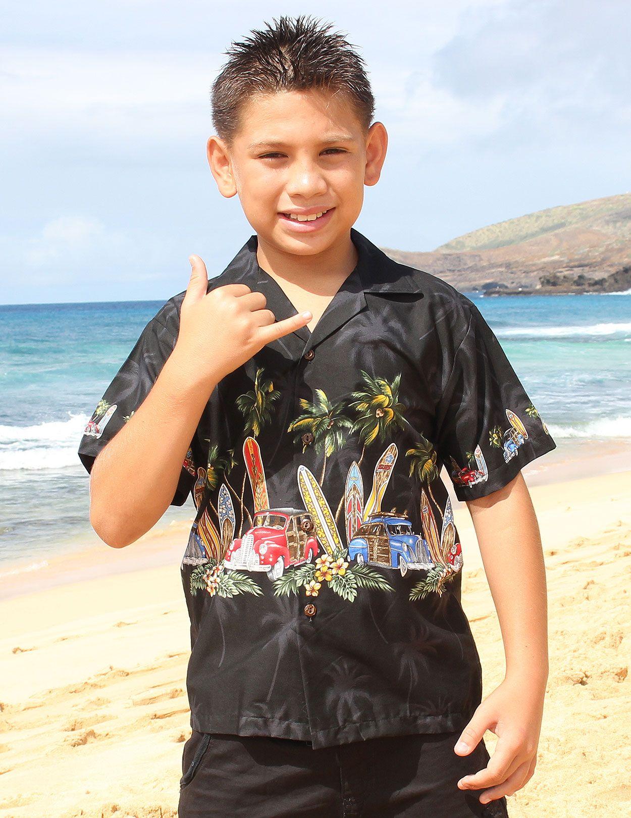 f0ca9141f19 Aloha Boy's Shirt - Woody Car : Shaka Time Hawaii Clothing Store ...