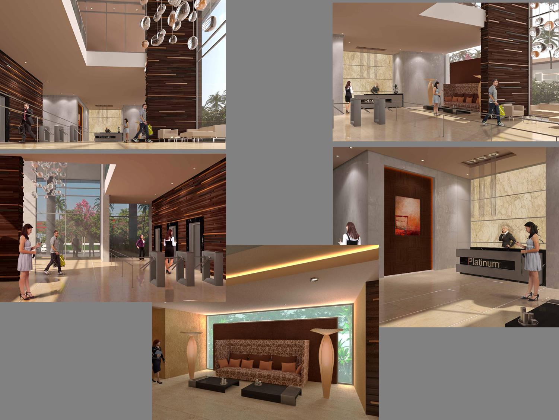 Dise o de lobby para un edificio de oficinas for Lavaderos rusticos de casas