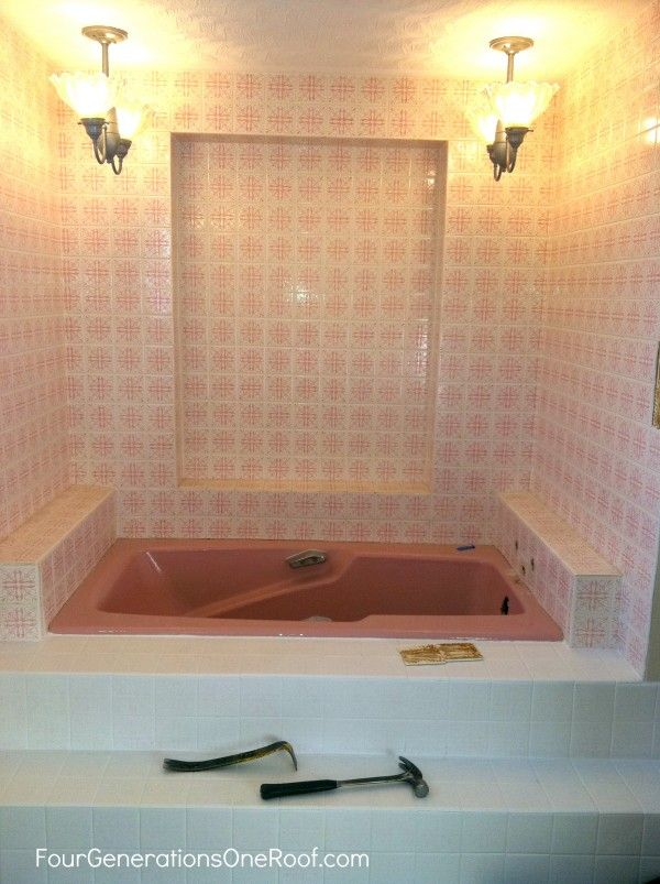 DIY Bathroom Renovation Reveal Bathtubs Budgeting And Bath - 1970 bathroom remodel
