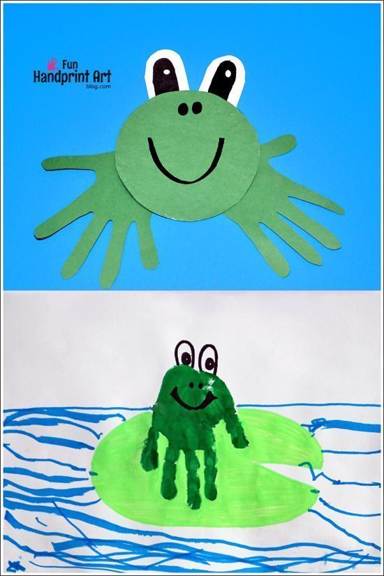 Easy to make Recycled CD Frog Craft - Fun Handprint Art