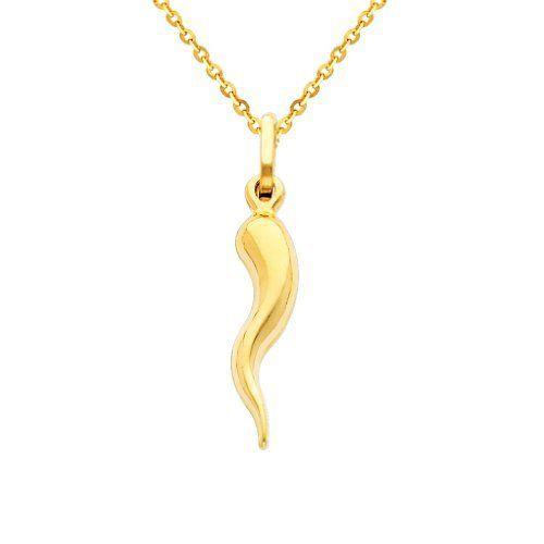 0a80b80582d86 Cornicello Italian Horn Charm Pendant Necklace | Golden Oldies ...