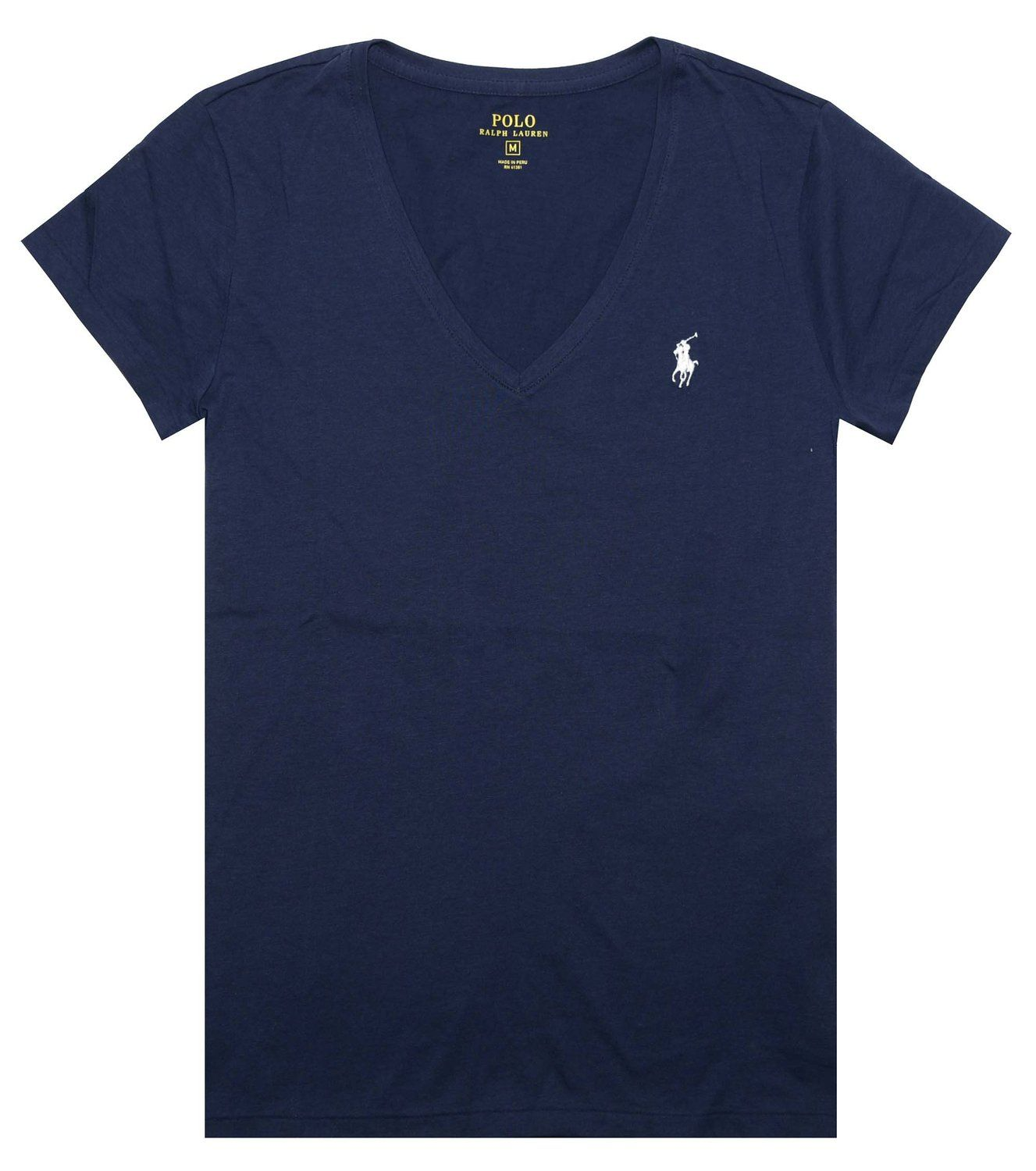 9412a144db934 Polo Ralph Lauren Women's Pony Logo V-Neck Tee at Amazon Women's ...