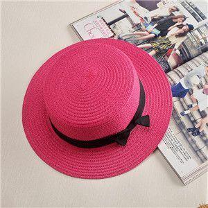 abd07d292 Lady Boater sun caps Ribbon Round Flat Top Straw Fedora Panama Hat ...