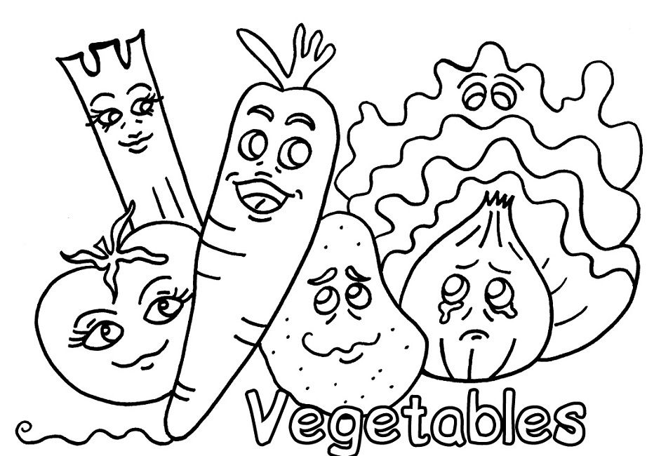 vegetable coloring pages Food Pinterest - copy coloring pages of vegetables