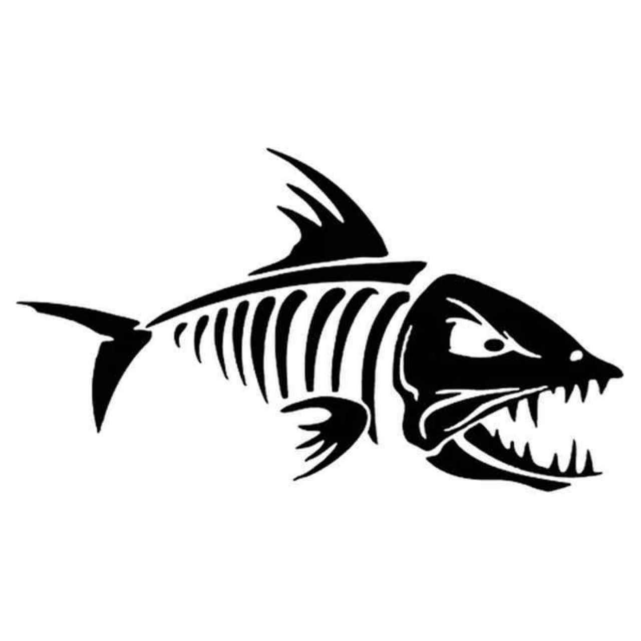 Skeleton Fish 822 Decal Sticker Aftermarket Decals