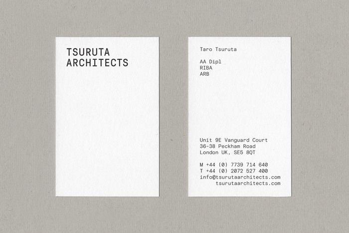 Tsuruta Architects Architecture Business Cards Graphic Design Business Card Business Cards Layout