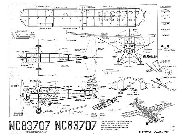 Aeronca Champion - 7074   Model airplanes, How to plan ...