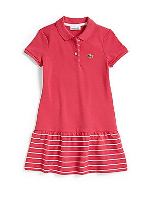 8dd63d18 Lacoste Girl's+Striped+Piqué+Polo+Dress | Celine | Dresses, Lacoste ...