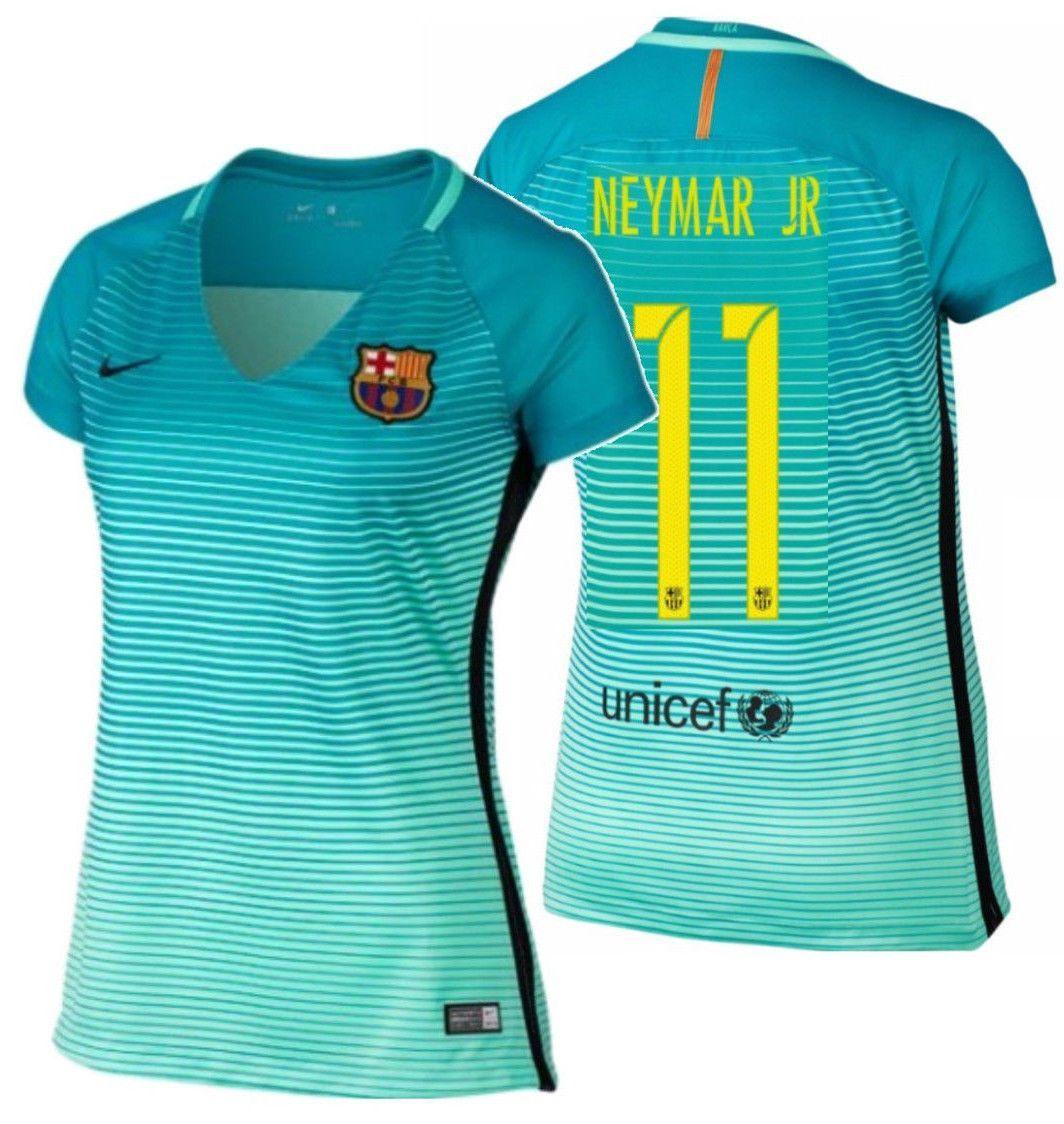 NIKE NEYMAR JR FC BARCELONA WOMEN S AWAY JERSEY 2016 17 Mes Que Un Club! a3d9cfdf70