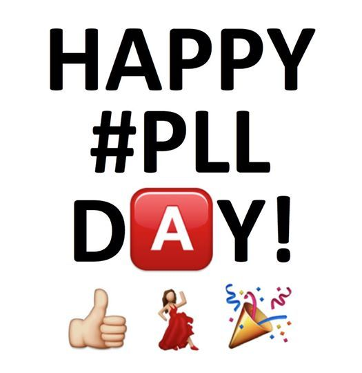 Happy PLL Day!! Tune in TONIGHT at 8/7c on ABC Family for a thrilling episode of Pretty Little Liars!