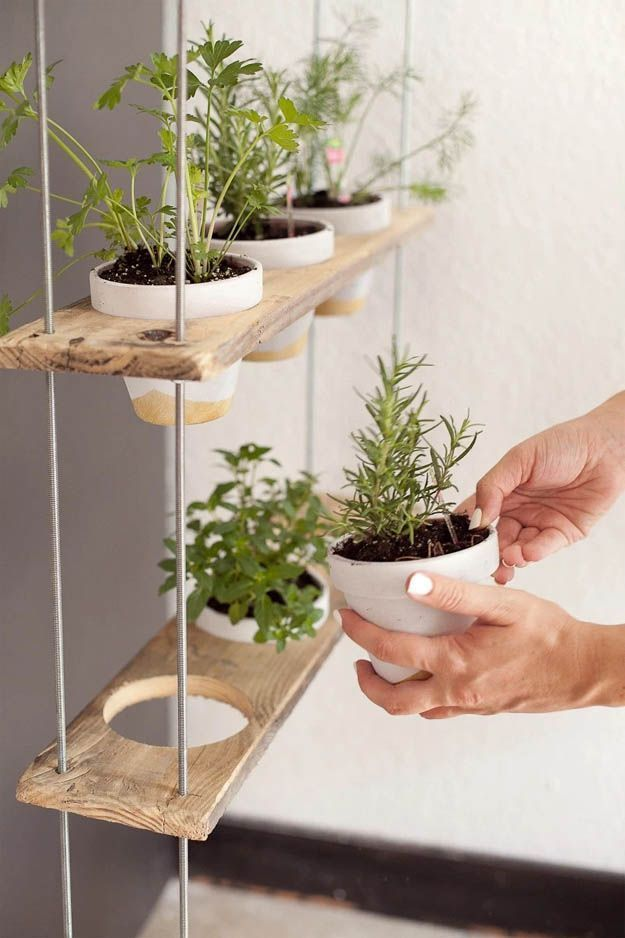 Photo of DIY Hanging Herb Garden – Holz Designs – #Designs #Diy #Garden #Hanging #Herb #k …